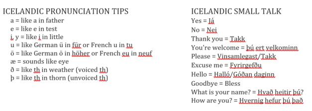 Iceland Small Talk